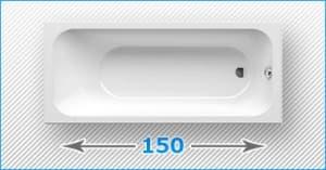 150 см прямоугольные акриловые ванны