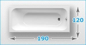 Акриловые ванны 190x120