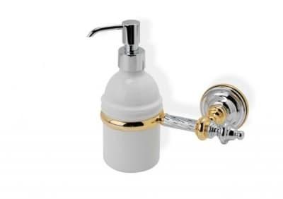 Stil Haus Giunone, настенный керамический дозатор, цвет хром - белый G30(03)