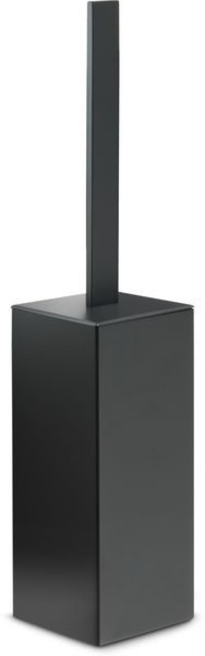 Gedy G-Lounge, напольный металлический ёршик для унитаза, цвет черный матовый 5433(14)