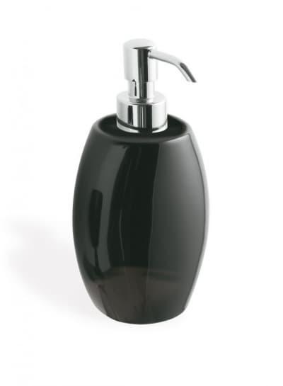 Stil Haus Zefiro, настольный керамический дозатор, цвет хром - черная керамика 654(08-NE)