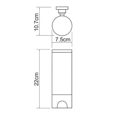 K-1079 Диспенсер для ватных дисков WasserKRAFT