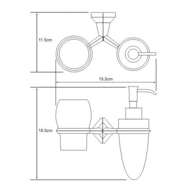 K-1189 Держатель стакана и дозатора WasserKRAFT