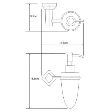 K-1199C Дозатор для жидкого мыла WasserKRAFT 160 мл
