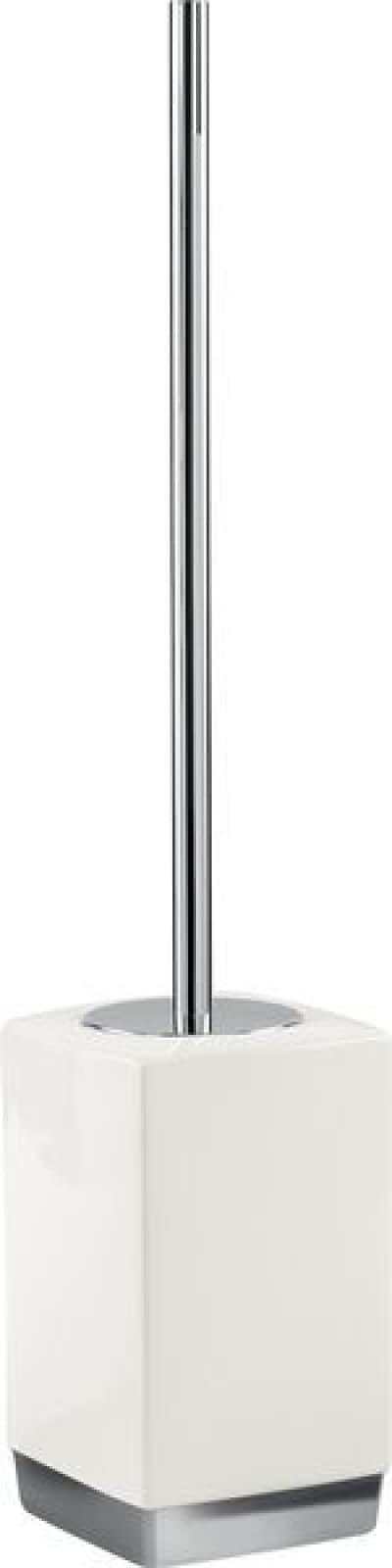 Gedy G-Lucy, напольный керамический ёршик для унитаза, цвет хром - белая керамика LY33(02)