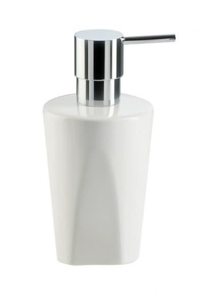 Stil Haus Liz, настольный керамический дозатор, цвет хром - белая керамика LZ30AP(08-BI)
