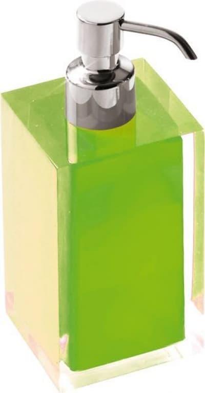 Gedy G-Rainbow, настольный дозатор с загнутым носом, цвет хром - зеленый RA81(04)