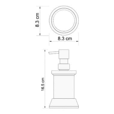 K-2399 Дозатор для жидкого мыла WasserKRAFT 170 ml