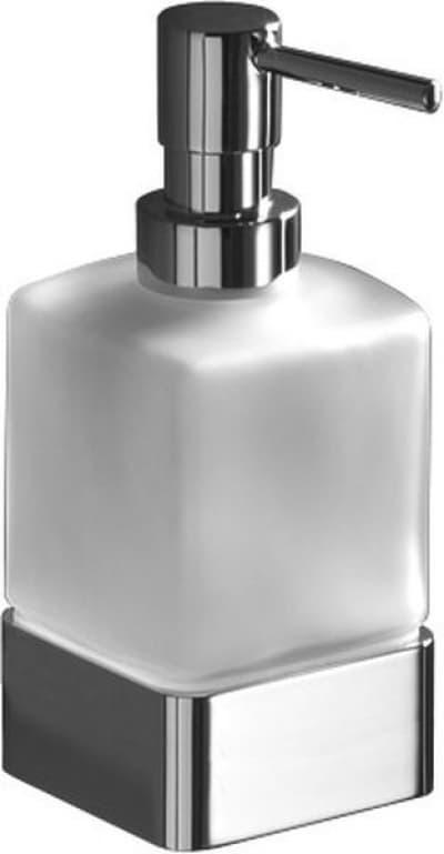 Gedy G-Lounge, настольный стеклянный дозатор на металлическом основании, цвет хром 5455(13)