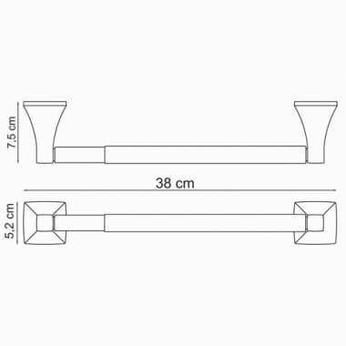 К-2522/32 см Держатель бумажных полотенец WasserKRAFT