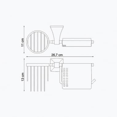 К-2559 Держатель туалетной бумаги и освежителя WasserKRAFT