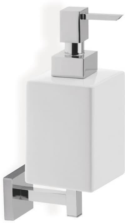 Stil Haus Urania, настенный керамический дозатор, цвет никель сатин - белая керамика U30(36-BI)