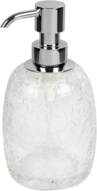 Surya Crystal, дозатор овальный с помпой V5, цвет хром - стекло с эффектом волны 6603/CH-WAV-V5