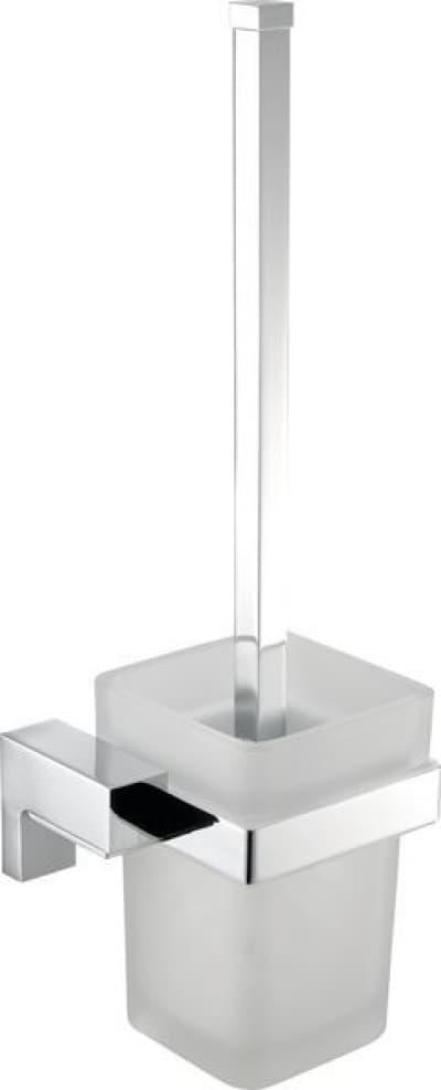 Sanibano Elegance, настенный стеклянный ёршик для унитаза, цвет черный матовый H8700/10MB