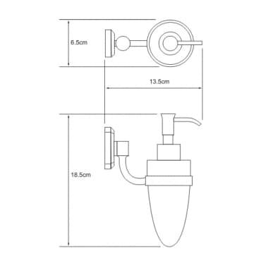 K-3099C Дозатор для жидкого мыла керамический WasserKRAFT