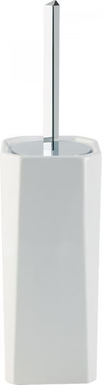 Stil Haus Diva, напольный керамический ёршик для унитаза, цвет хром - белая керамика DV12А(08-BI)