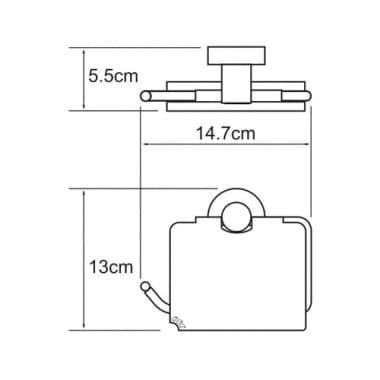 К-4025 Держатель туалетной бумаги с крышкой WasserKRAFT