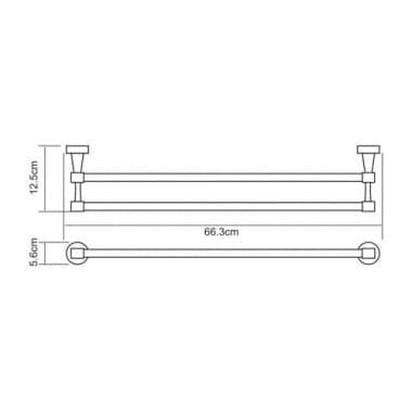 К-4040 Штанга для полотенец двойная WasserKRAFT