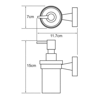 К-4099 Дозатор для жидкого мыла стеклянный WasserKRAFT