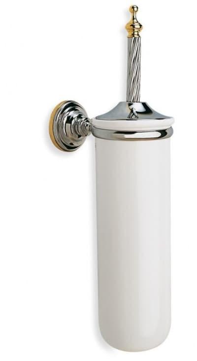 Stil Haus Giunone, настенный керамический ёршик для унитаза, цвет белый - золото G12(04)