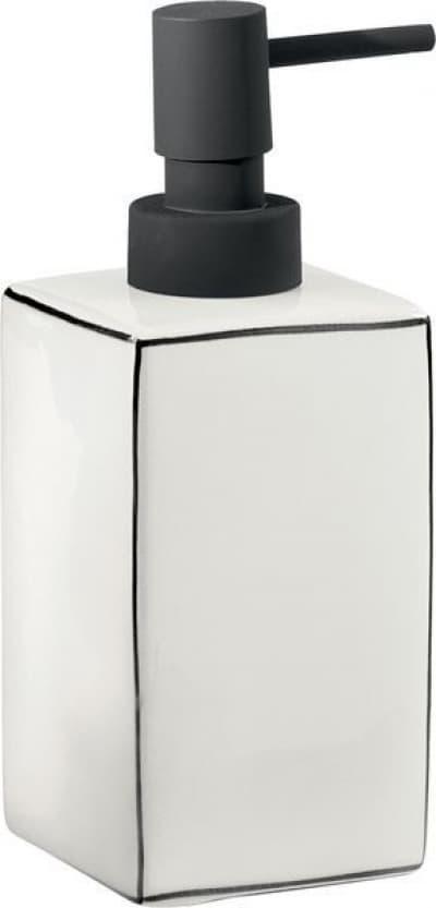 Gedy G-Lucrezia, настольный керамический дозатор, цвет черный матовый - белая керамика LC80(02)
