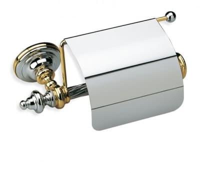 Stil Haus Giunone, бумагодержатель закрытый, цвет белый - золото G11с(04)