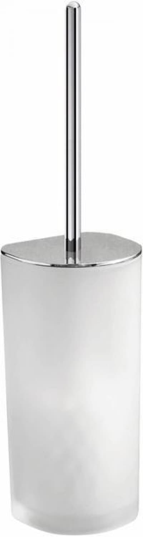 Gedy G-Kent, напольный стеклянный ёршик для унитаза, цвет хром 5533(13)