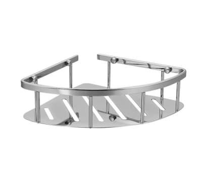 Полка решетка угловая, одинарная, хромированная, латунная Savol S-002677