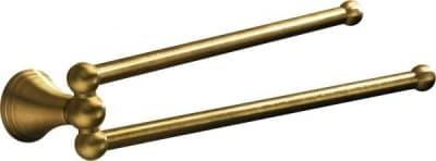 Gedy G-Romance, полотенцедержатель двойной поворотный, цвет бронза 7523(44)