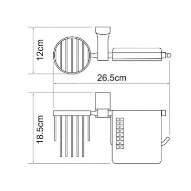 К-5059 Держатель туалетной бумаги и освежителя WasserKRAFT