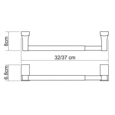 К-7222/32 см Держатель бумажных полотенец WasserKRAFT