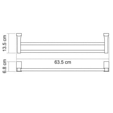 К-5240 Штанга для полотенец двойная WasserKRAFT
