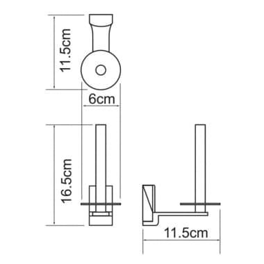 К-5297 Держатель туалетной бумаги WasserKRAFT