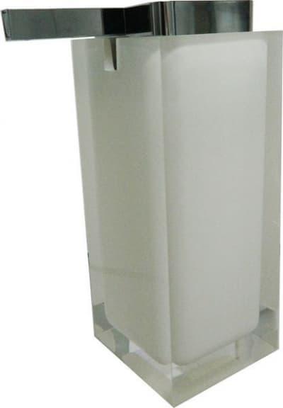 Gedy G-Rainbow, настольный дозатор с плоским носом, цвет хром - белый RA80(02)