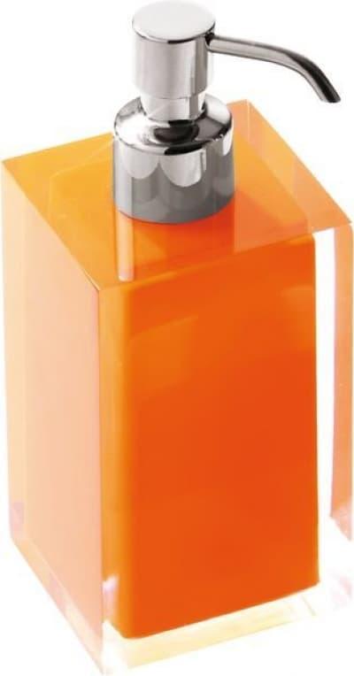 Gedy G-Rainbow, настольный дозатор с загнутым носом, цвет хром - оранжевый RA81(67)