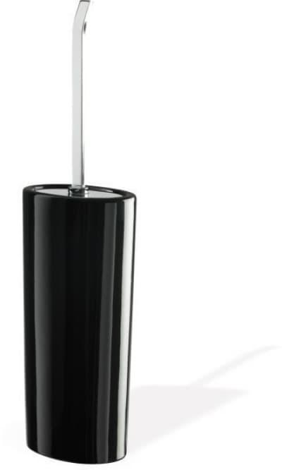 Stil Haus Aria, наcтенный керамический ёршик для унитаза, цвет хром - черная керамика AR945M(08-NE)