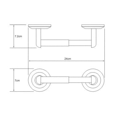 K-6222 Держатель туалетной бумаги WasserKRAFT