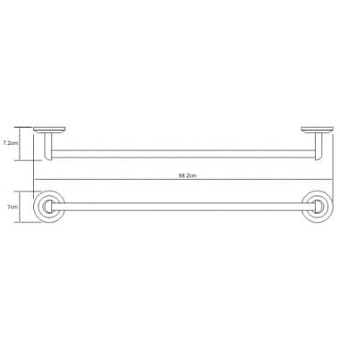 K-6230 Штанга для полотенец WasserKRAFT