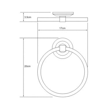 K-6260 Держатель полотенец кольцо WasserKRAFT