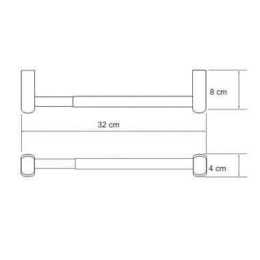 К-6822 32 см Держатель бумажных полотенец WasserKRAFT