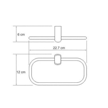 К-6860 Держатель полотенец кольцо WasserKRAFT