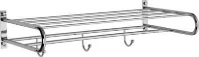Sanibano, полка для полотенец + 3 крючка, цвет хром H255/CR