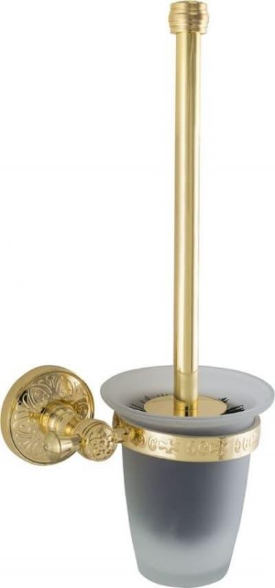 Sanibano Nilo, настенный стеклянный ёршик для унитаза, цвет золото H6600/10GOLD