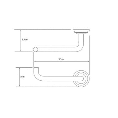 К-7096 Держатель туалетной бумаги WasserKRAFT