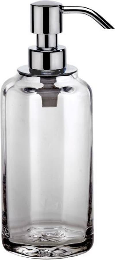 Surya Crystal, дозатор высокий с помпой V5, цвет хром - прозрачное стекло 6607/CH-OPG