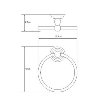 К-7360 Держатель полотенец кольцо WasserKRAFT