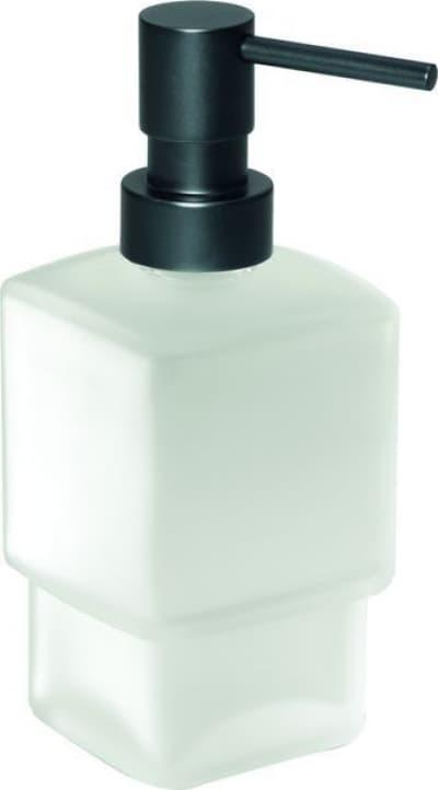 Gedy G-Lounge, настольный стеклянный дозатор, помпа цвет черный матовый 5455(SN)