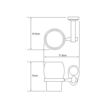 K-9228 Подстаканник стеклянный WasserKRAFT