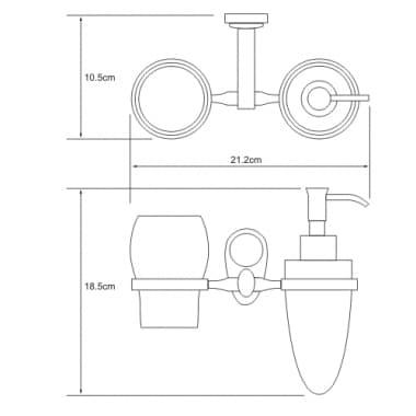 K-9289C Держатель стакана и дозатора WasserKRAFT