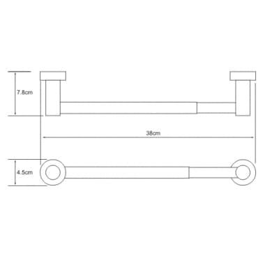 K-9422/ 32 см Держатель бумажных полотенец WasserKRAFT